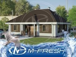 M-fresh Brown (В проекте дома коричневые кровля и фасады под кирпич! ). 100-200 кв. м., 1 этаж, 4 комнаты, бетон