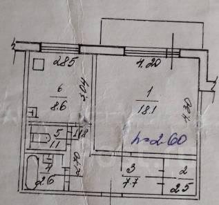 1-комнатная, улица Стрельникова 20. Краснофлотский, частное лицо, 42,0кв.м.