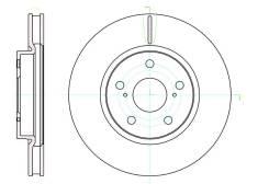 Диск тормозной передний Toyota MARK X/Crown; Lexus IS200/250/300/350 GR20598