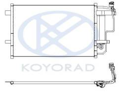 Радиатор кондиционера Koyorad CD060485 CD060485, BBP261480A, BBP261480B, BBP261480C, BBY26148ZA, MZX0309930, STMZV83940
