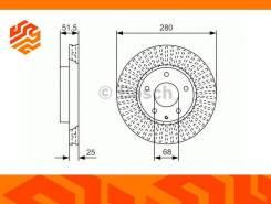 Диск тормозной Bosch 0986479C36 передний 0986479C36