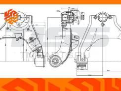 Рычаг подвески верхний JD Jdcpx130L левый передний JDCPX130L
