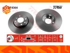 Диск тормозной TRW DF4364 передний DF4364