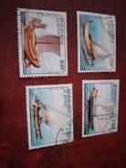 Набор марок парусники, гашеный.