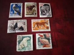 Набор марок фауна, гашеный.