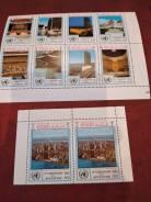 Набор марок архитектура, чистый.