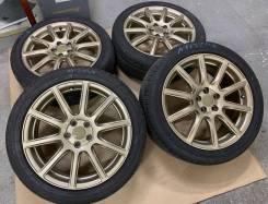 Eco Forme R17 5*100 7j et53 золото + 215/50R17 Dunlop Winter Maxx WM01