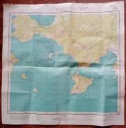 КартаГенеральногоШтаба СССР 1961г. Фрагмент о. Русский Холуай, о. Шкота