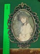Шелкография Плакетка Бронза 19 век