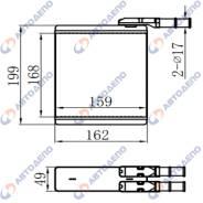 Радиатор отопителя Isuzu Bighorn HR-510-K HR510K