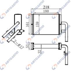 Радиатор отопителя Mazda, Isuzu Bongo Friendee SGLR HR-511-K HR511K