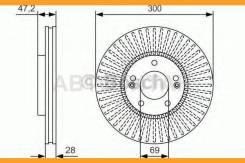 Тормозные диски Hyundai/ KIA Bosch [0986479S14] 0986479S14