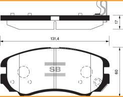 Колодки тормозные дисковые, передние HYSonata01-, Tucson04-, Coupe02-, Elantra; KISportageNEW, Optima; Soul 08-; Sangsin Brake SP1202...