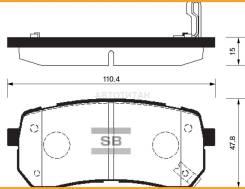 Колодки тормозные дисковые, задние KICarnival06-; Sangsin Brake SP1192 [SP1192] SP1192