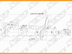 Стойка передняя Mitsubishi Lancer X 07- RH [ST4060A242], правая ST4060A242