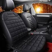 Чехол-накидка CARFORT SUN с подогревом, для передних сидений, ткань, черный цвет, 1шт