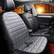 Чехол-накидка CARFORT SUN с подогревом, для передних сидений, ткань, серый цвет, 1шт