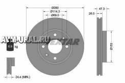 Диск тормозной Hyundai Elantra (XD) 1,6-2,0/CRDi 06/00-/Sonata IV (EU4) 2,0/2,7 V6 10/01-11/04/Magentis (GD) 2,0/2,5 V6 05/01- 92136600