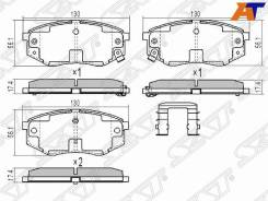 Колодки тормозные Hyundai I20 09-, Hyundai ix20 09-, Hyundai Sonata YF 10-14, Hyundai Tucson/IX35 10-, KIA Carens 02-06, KIA Sportage III 10- ST-58101...