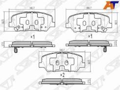 Колодки тормозные Hyundai I30 12-, Hyundai Veloster 12-, KIA CEED 12-, KIA Optima/Magentis 10- ST-58101A6A20, передний ST58101A6A20