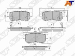 Колодки тормозные Hyundai Elantra XD, Hyundai GETZ 02-10, Hyundai Grandeur 05-11, Hyundai Matrix/Lavita 01-, Hyundai Santa FE 00-06, Hyundai Sonata II...