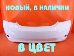 Бампер задний Hyundai Solaris 2010-2014 Новый, Белый PGU, седан 866114L000PGU