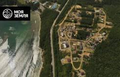 Участок 10 сот на Шаморе городской водопровод и 10 минут до пляжа. 1 000кв.м., аренда, электричество, вода
