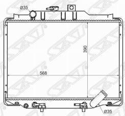 Радиатор ДВС Mitsubishi Delica [MC0005L300D] P03V 4D56 [5903] MC0005L300D