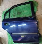 Дверь задняя правая Honda Domani MB3 синяя