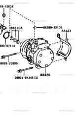 Болт крепления компрессора кондиционера Toyota Camry CV40 88899-20090