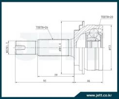Шрус внешний toyota vitz V419232