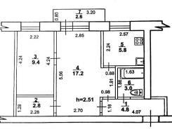 2-комнатная, улица Верхотурова 8. Вяземский, агентство, 43,0кв.м.