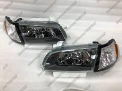 Фары Toyota Corona / Carina E / Caldina 92-95 ST19#, Хрусталь черные
