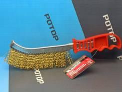 Щетка по металлу с пластиковой ручкой MATRIX 74827