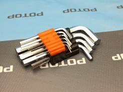 Набор ключей Г-образных шестигранников 10 предметов 1,5-12 мм 30342/142853