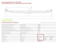 ЧМЗ 6580290201520 6580-2902015-20_лист рессоры коренной перед. 1 90х26/12 L1800 Камаз (Сегодня при заказе до 13.00)