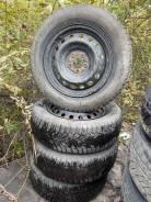 Продам комплект колёс на штамповках 195/65/15 на шипах