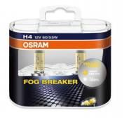 Галогеновая автолампа osram h4 12v 60/55w p43t fog breaker (62193fbr), eurobox-2шт