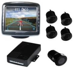 Парковочный радар, 4 черных датчика, монитор TFT006