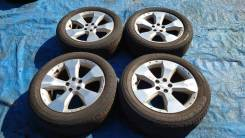 "Комплект летних колес на литье Subaru Forester. 225 55 17. SH5. 7.0x17"" 5x100.00 ET48 ЦО 55,0мм."