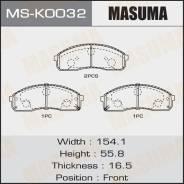 Колодки тормозные Masuma дисковые, передние, арт. MS-K0032 MSK0032