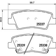 Колодки тормозные Nisshinbo дисковые, арт. NP6020 NP6020