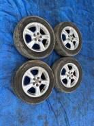 "Комплект летних колес на литье Toyota Caldina GT-T 205 50 15. T-15. 6.0x15"" 5x100.00 ET39 ЦО 55,0мм."