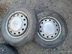 Пара колёс на штампах. зима 145/80-13